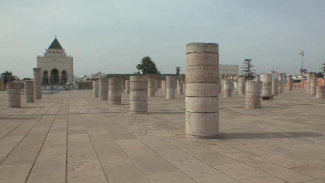 WS Yascoub Al Mansour esplanade with Roman columns, Rabat, Morocco