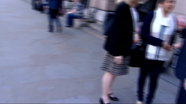 mother and headteacher departure england london westminster ext sowbhagyawatee bageerathi stands talking with lynne dawes outside portcullis house... - head teacher stock videos and b-roll footage