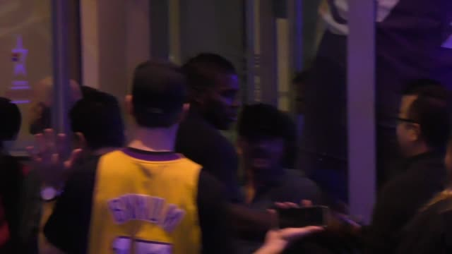 Yasiel Puig arrives to Staples Center for the Lakers vs Mavericks Game at Celebrity Sightings in Los Angeles on January 26 2016 in Los Angeles...