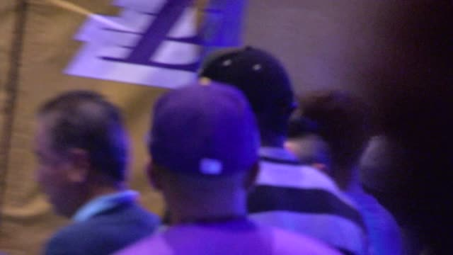 Yasiel Puig entering the first game of the Laker Season at Staples Center in Los Angeles in Celebrity Sightings in Los Angeles