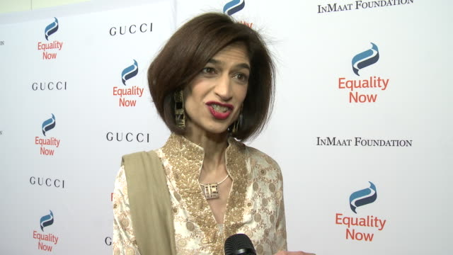 interview yasmeen hassan on what we are celebrating why its important to support women girls rights at equality now's make equality reality gala 2018... - equality now stock videos and b-roll footage