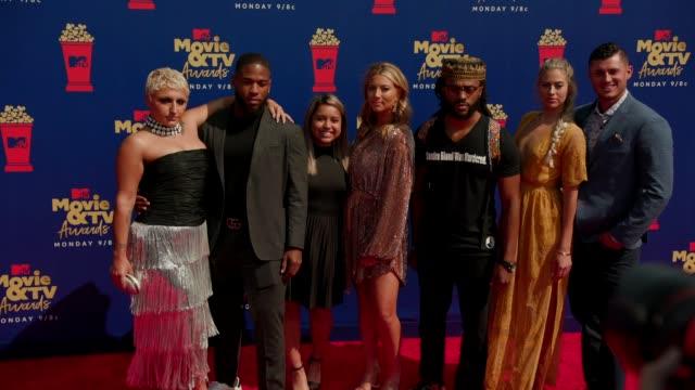 Yasmin Almokhamed Dondre Randolph Arely Avitua Meagan Melancon Justin Blu Tovah Marx and Clint Wright at the 2019 MTV Movie TV Awards at Barkar...