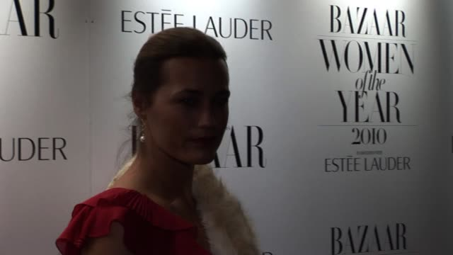 Yasmin Le Bon arrives for the Harper's Bazaar Awards Harper's Bazaar Women Of The Year Awards at One Mayfair on November 01 2010 in London