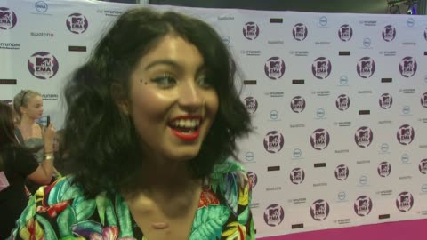 yasmin on playing in belfast, earliest memories of mtv, who she's looking forward to seeing, lady ga ga at the mtv europe music awards 2011 arrivals... - mtv stock videos & royalty-free footage