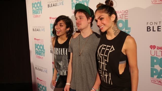 Yasmine Yousaf Kris 'Rain Man' Trindl Jahan Yousaf at iHeartRadio Ultimate Pool Party Presented By VISIT FLORIDA At Fontainebleau's BleauLive...