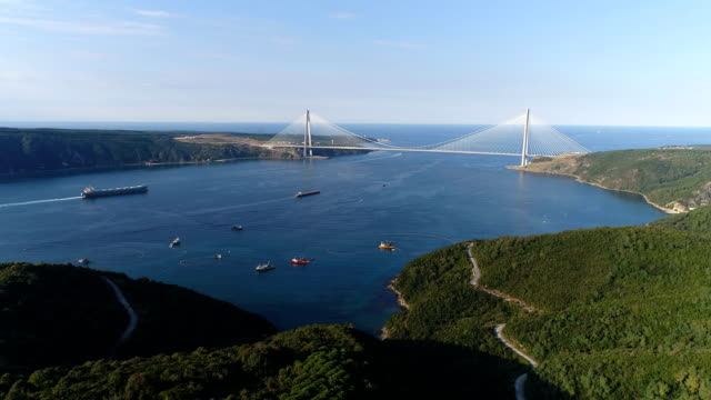 yavuz sultan selim bridge - yavuz sultan selim bridge stock videos & royalty-free footage