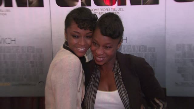 Yaya DaCosta and guest at the 'Stone' New York Premiere Arrivals at New York NY