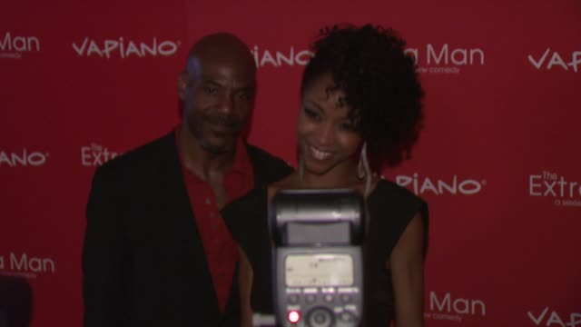 Yaya DaCosta and Guest at the 'The Extra Man' New York Premiere at New York NY
