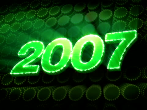 jahr 2007 glitzernden text - 2007 stock-videos und b-roll-filmmaterial