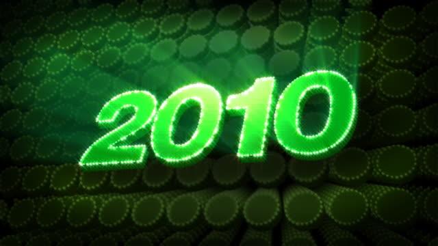 vídeos de stock, filmes e b-roll de ano 2010-glitter brilho texto - 2010