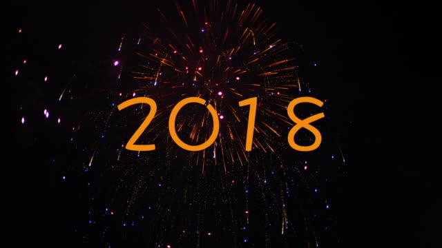 WS:2018 Jahr Feuerwerk in 4 K