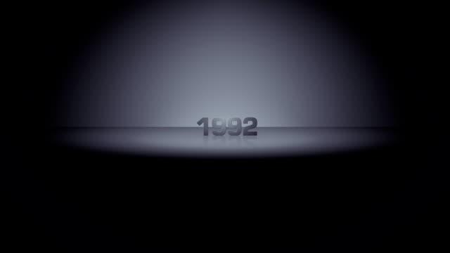 year horizon zoom 1992 - 1992 stock videos & royalty-free footage