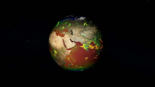 year in earth's live. temperatures circulation. nasa public domain - continente area geografica video stock e b–roll