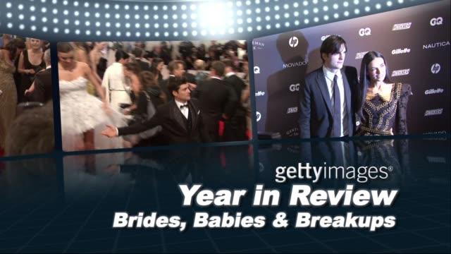 year in review: brides, babies and break-ups - skådespelerska bildbanksvideor och videomaterial från bakom kulisserna
