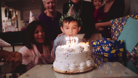6 year old birthday party - celebration event stock videos & royalty-free footage