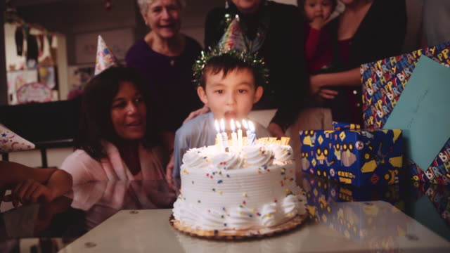 6 year old birthday party - candle stock videos & royalty-free footage