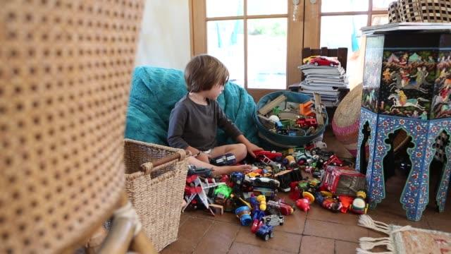 3 year old boy playing