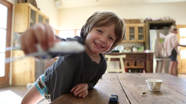 3 year old boy playing with toy  airplane - men's underpants stock videos and b-roll footage