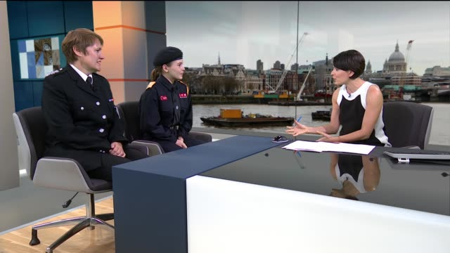 16 year old fire cadet helps save man's life england london gir int edie kenchandrews live studio interview sot nicola lown live studio interview sot... - cadet stock videos & royalty-free footage