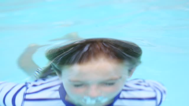 10 year old girl in pool - wet hair stock videos and b-roll footage