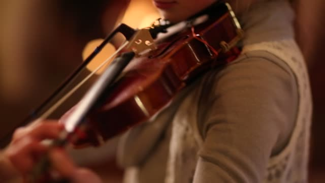 9 year old girl playing violin - violin stock videos & royalty-free footage