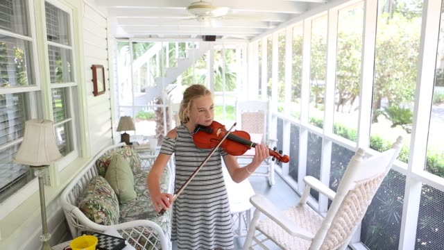 11 year old girl playing violin