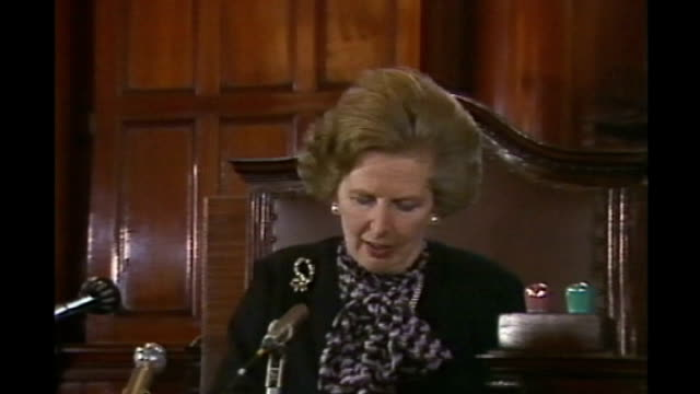 30 year rule documents reveal Thatcher government response to riots of 1981 LIB DAY Margaret Thatcher getting out of car Margaret Thatcher press...