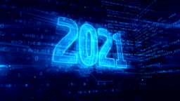 2021 year symbol abstract animation