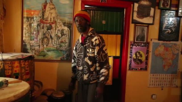 68 yearold jamaican ras binge speaks to the press at rasta church in the town of shashemene 230 kilometers south of ethiopian capital addis ababa on... - rastafarian stock videos & royalty-free footage