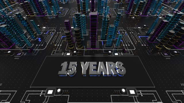 15 years abstract anniversary concept - financial figures stock videos & royalty-free footage