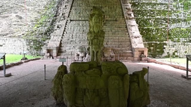 40 years after it was declared a world heritage site copan archaeological park in western honduras survives amidst challenges due to the degradation... - mayan stock videos & royalty-free footage