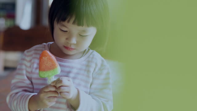 2-3 years eating ice cream watermelon outdoors - 2 3 years stock videos & royalty-free footage