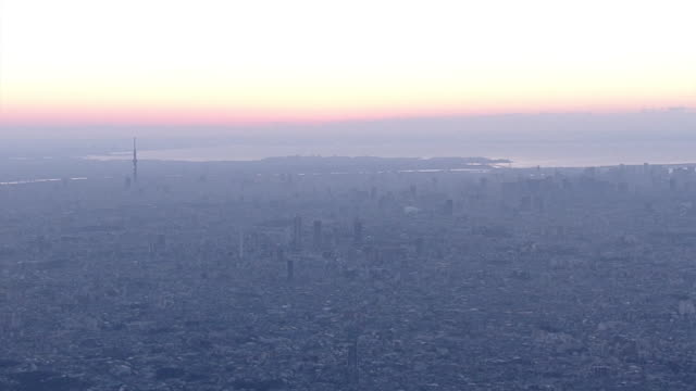 aerial, year's first sunrise, tokyo, japan - religious celebration stock videos & royalty-free footage