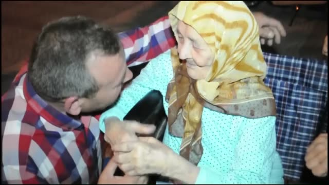 113 years old woman Ayse Karabuber attends a protest against the Parallel State/Gulenist Terrorist Organization's failed military coup attempt in...