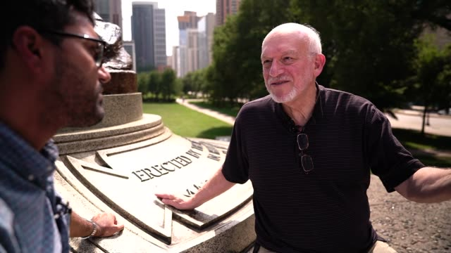 50 years since differences over the Vietnam war nearly split the Democratic Party 1968 Illinois Chicago EXT Reporter and Mike Klonsky talking in...