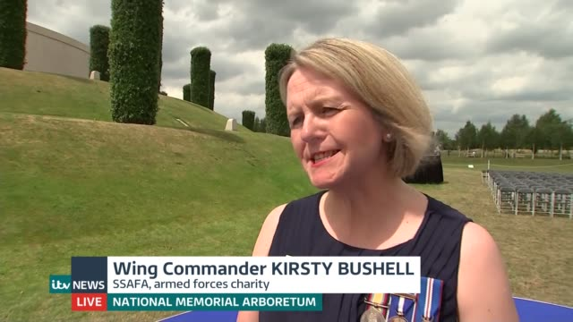 100 years since women first enrolled into british armed forces england staffordshire lichfield national memorial arboretum ext wing commander kirsty... - lichfield stock videos & royalty-free footage