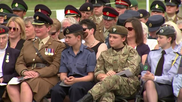 100 years since women first enrolled into british armed forces england staffordshire lichfield national memorial arboretum ext various of female... - lichfield stock videos & royalty-free footage