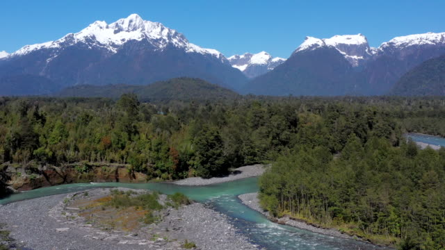 yelcho river valley, pumalin national park, patagonia, chile - national park stock videos & royalty-free footage