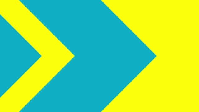 gelb und blau abstrakte bunte pfeil übergang - changing form stock-videos und b-roll-filmmaterial