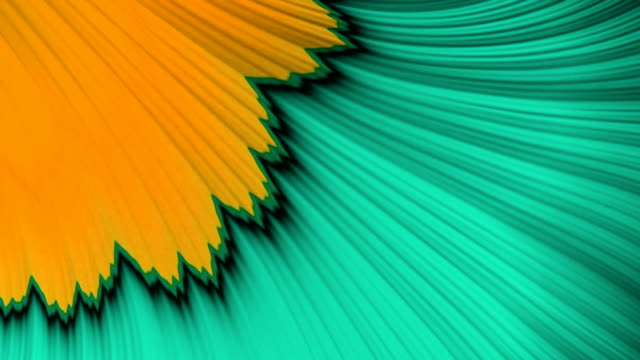 vidéos et rushes de yellow and green psychedelic fractal background like floral petal - fleur flore