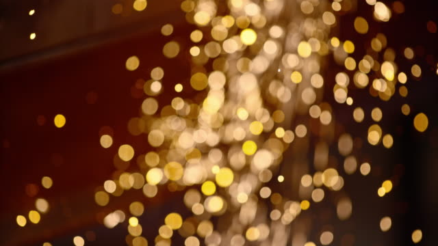 SLO MO LD Yellow and shiny metal sparks