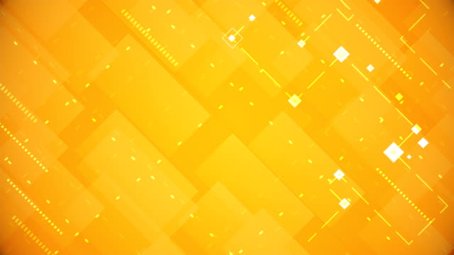 yellow blocks background (loopable) - orange colour stock videos & royalty-free footage