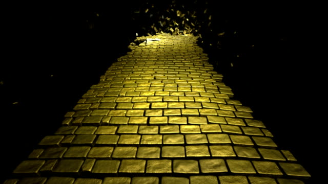 yellow brick road - brick stock videos & royalty-free footage