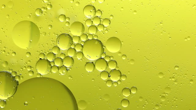 yellow bubble on water abstract background
