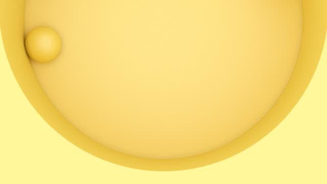 vídeos de stock e filmes b-roll de yellow circle rotating - espontânea