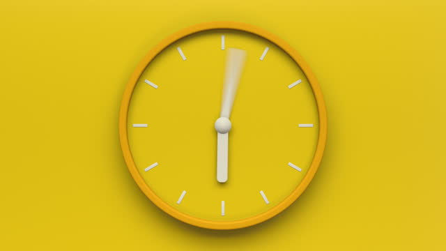 yellow clock loop - deadline stock videos & royalty-free footage