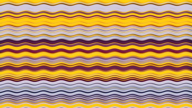 vídeos y material grabado en eventos de stock de fondo de gráficos de movimiento horizontal de color amarillo. animación de bucle generada por ordenador. efecto dinámico. plantilla de diseño. patrón animado moderno. renderizado en 3d. 4k uhd - geometría