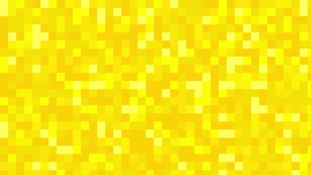 黄色のデジタル正方形の背景 - 黄色点の映像素材/bロール