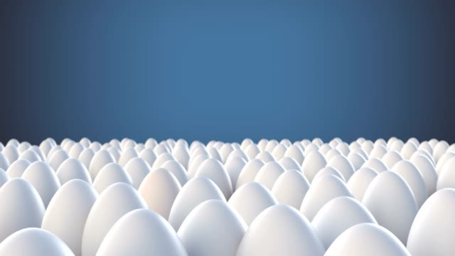 yellow egg standing out from crowd mass concept - individuality stock videos & royalty-free footage