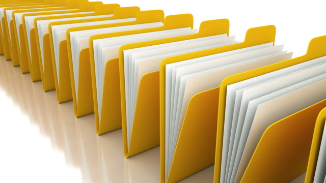 yellow folders - filing documents stock videos & royalty-free footage